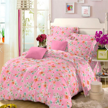 Rose printed cotton twill fabric for bedding