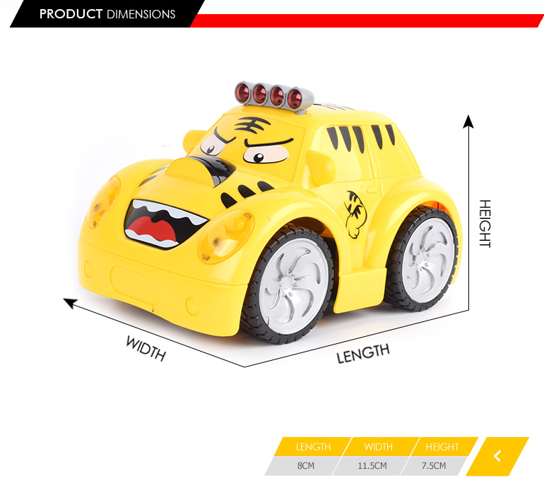 yellow cartoon tiger design 2ch electric toy vehicle rc fast car with wholesale price