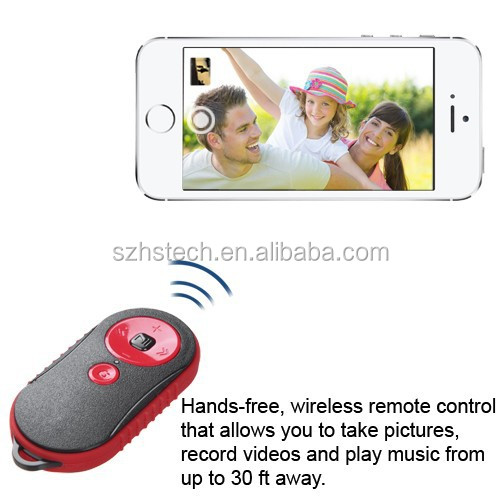 2015 Best selling mobile phone accessory PRO universal remote control Wireless Video Music Camera Remote Shutter for iOS Android