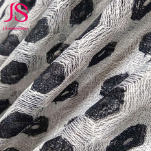Gray lace and net fabric for home textile / fashion dress
