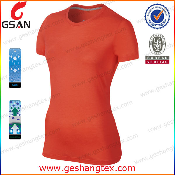 Fashion Round Neck Tight Fit T Shirt for Ladies