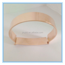 Jewelry supplier alibaba wholesale high polish width design rose gold stainless steel stuck bangle