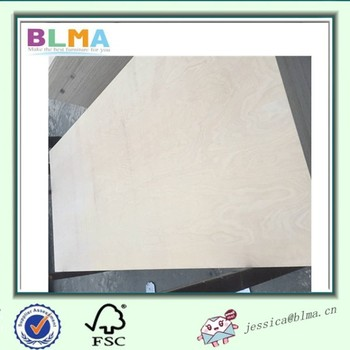 High quality birch veneer faced plywood for making furniture