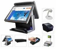 Elanda fast food restaurant equipment with thermal printer,all in one touch screen pos