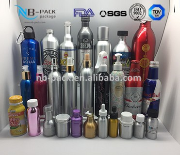 Aluminum cosmetics spray /beverage/beer/water/engine oil additives bottle