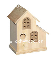 decorative mini pine wooden hanging bird cage cute wood bird house