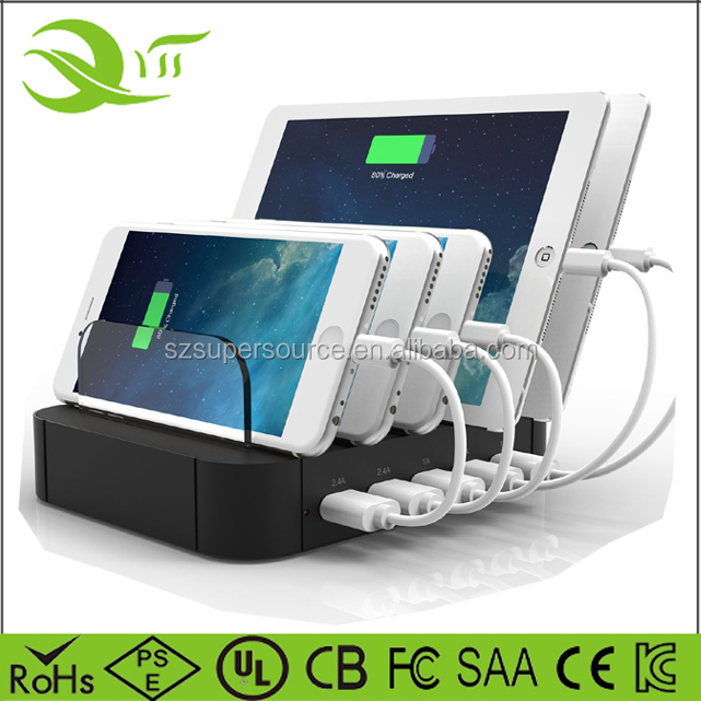 USB Desktop Universal Charging Station Multi Device Dock for iPhone iPad Galaxy LG Tablet PC