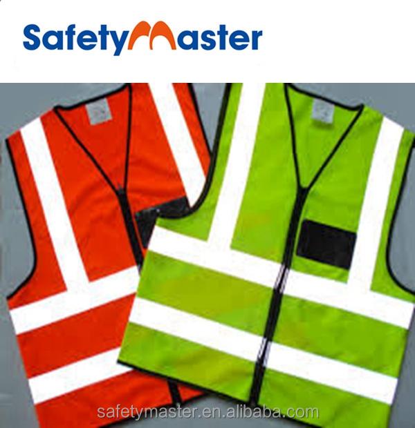 Safetymaster reflective clothing high visibility flashing led safety vest