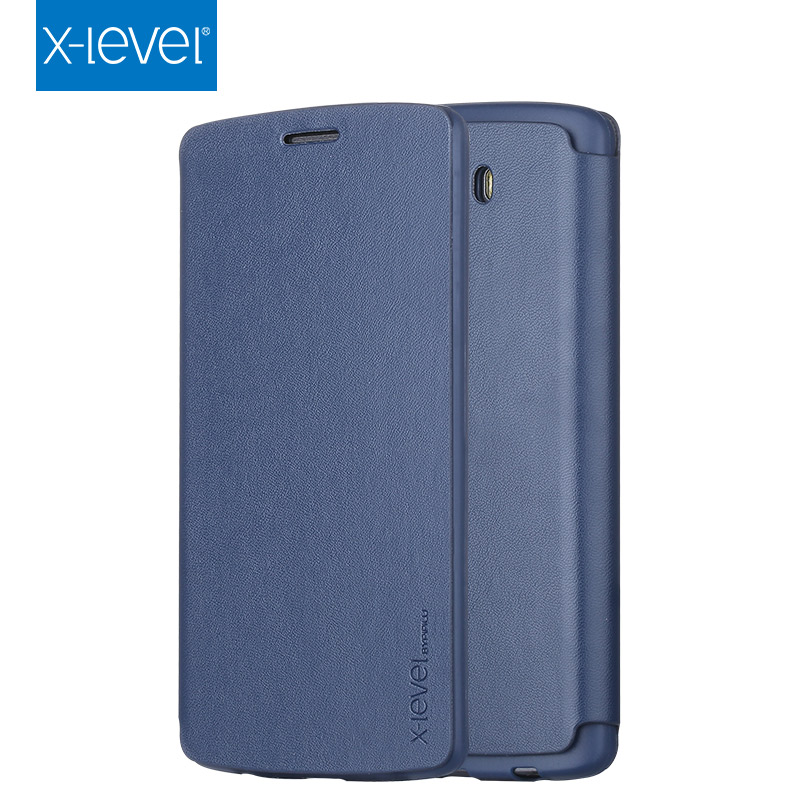 FREE SHIPPING X-LEVEL Wholesale Blue PU Flip Phone Accessories Cell Phone Cover for LG G3