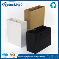 China supplier logo printing black kraft paper bag with handle