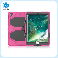 Heavy Duty Shockproof Protective Case for iPad mini 1 2 3/iPad 5 Kickstand Silicone Rubber Armor Cover with Screen Protector