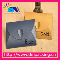 Pearl Pink Red Gold Paper Envelope Blue Candy Colors Invitation Message Card Packaging Heart Clossure Envelopes
