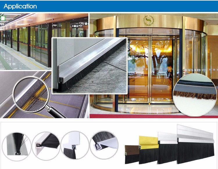 Weather Sealing Strip Brush for Designer Doors