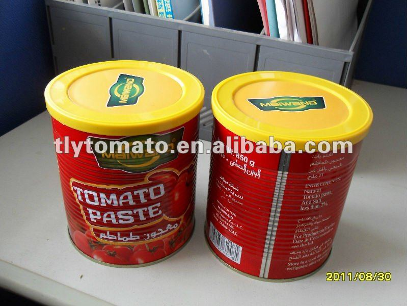 China SNOW RED canned tomato paste with plastic cap