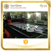 Sun Glory Para Hacer Steel Round Plate Maquina Laser para Corte