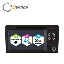 Ownice 8 core Android 6.0 headrest dvd player for Audi A3 S3 Built in 4G LTE 2G RAM Support steering wheel