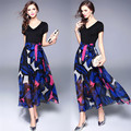 2017 Summer Dresses Latest Design Women Clothes long maxi printed woman dress