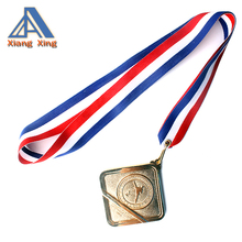 Custom ribbon printing neck lanyards for champion medals