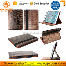 2017 New Brown PU Leather Stand Cover Case for Ipad