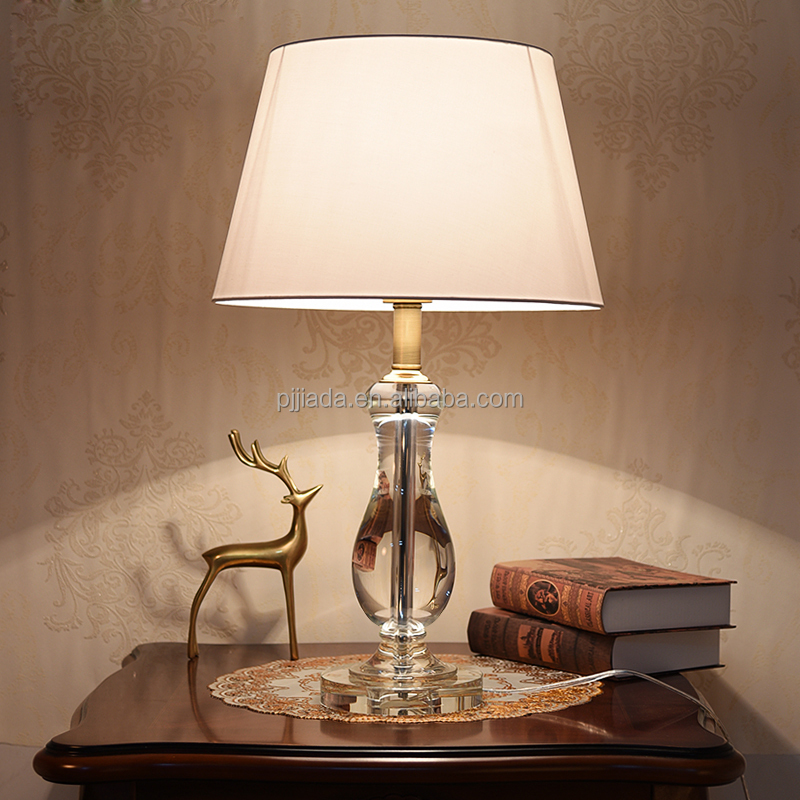 Custom design modern electric home goods crystal table lamp