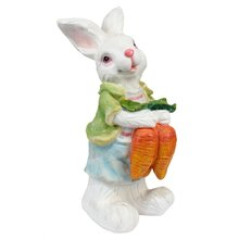 Wonderland Rabbit with Carrots Statue Garden Decoration Outdoor Or Balcony Decor