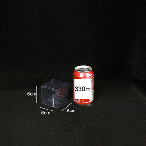 6*6*6cm Customized Logo Clear PVC Box Plastic Square Boxes Transparent Gift Display Packaging Box with Protected Film