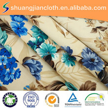 polyester floral pattern printed satin velvet drapery fabric