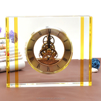 Office Decoration antique crystal table clock