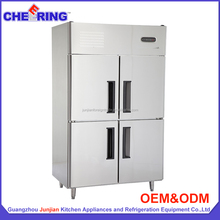 four doors industrial chiller freezer used restaurant equipment used upermarket refrigeration equipment