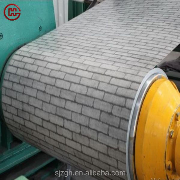 rough and glossy Wood grain/ camouflage printing color coated Galvanized steel sheet in coil on alibaba express