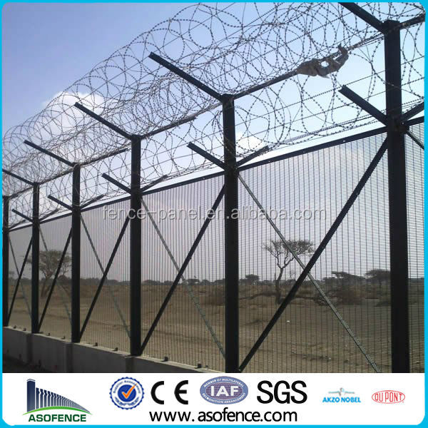 UK Market High Security Prison Mesh Fencing Taurus 358 Secure
