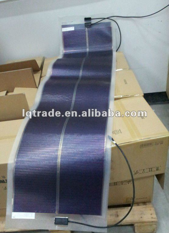 46W 159.6V a-Si thin film flexible solar panel for solar roofing power station