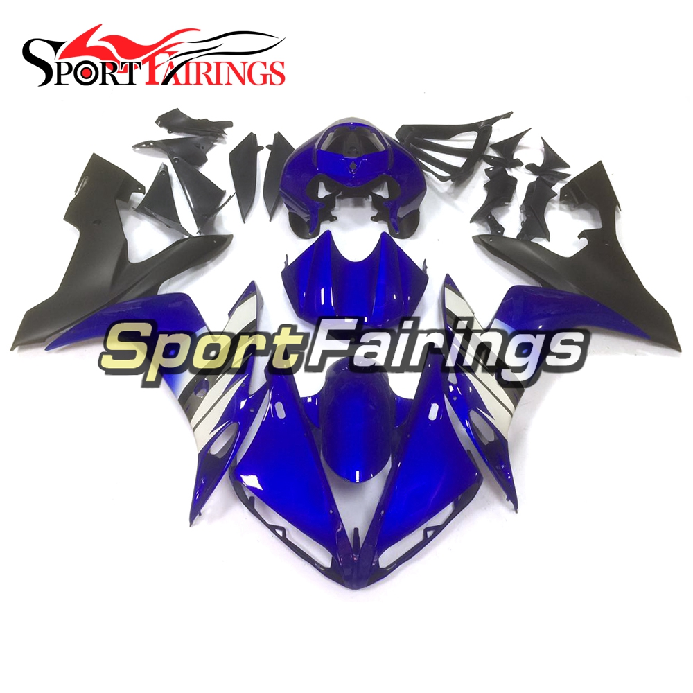Complete Motorcycle Fairings For Yamaha YZF <strong>R1</strong> <strong>2004</strong> 2005 2006 ABS Plastic Injection Fairing Kit Blue White Cowlings