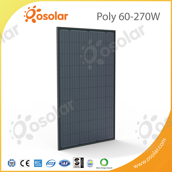 Osolar 270W 60 cells Black Polycrystalline Solar Panel