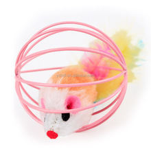 [PTY017] Teasing cat toys,mouse in cage toys for cat