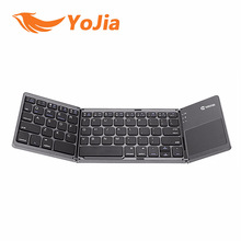 Portable Folding Bluetooth Keyboard BT Wireless Rechargeable Foldable Touchpad Keypad for IOS/Android/Windows ipad Tablet