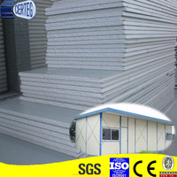 zinc coated white color steel EPS sandwich wall panel