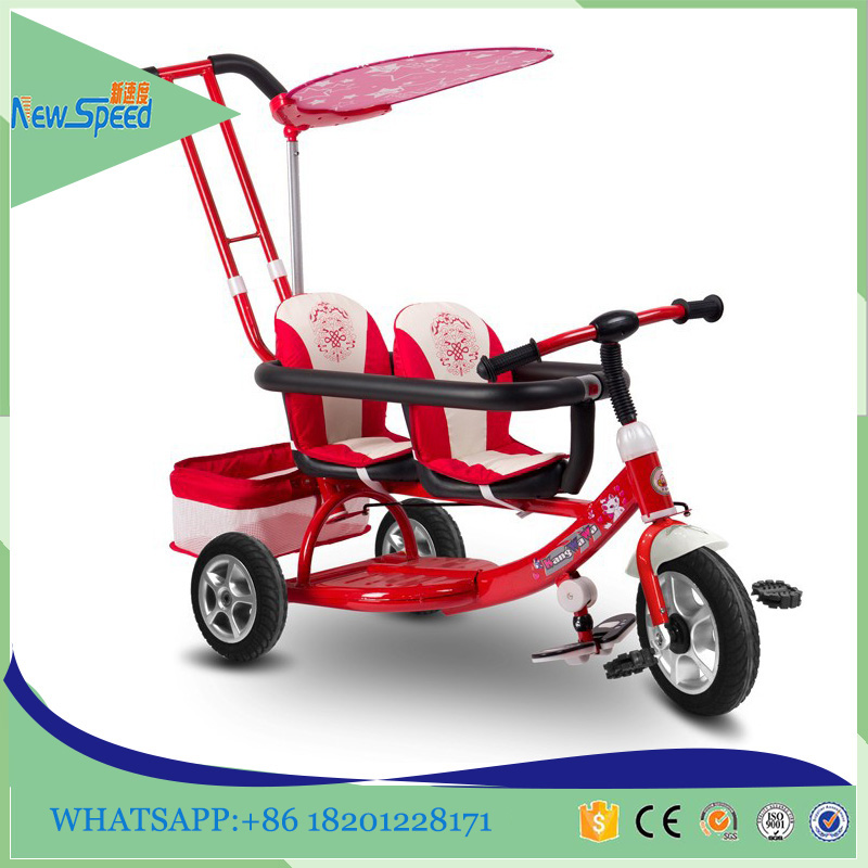 High quality outdoor mother baby stroller bike baby twins tricycle