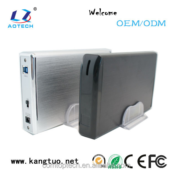 UASP SATA III USB 3.0/2.0 Aluminum External Hard Disk Drive Enclosure & Mobile Device Optimized For 3.5 Inch HDD
