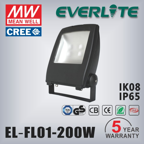 IP65 Die-casting Aluminium 200W outdoor Led Flood light top quality