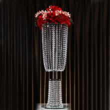hanging wedding crystal tall flower stand centerpieces for party decoration