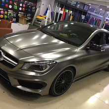 TSAUTOP 1.52*18m Rohs Certification Matte Satin Chrome Car Wrap