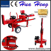 Big power wood log cutters and splitters with CE
