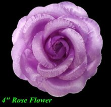 "4"" lavender rose flower fashion hair flower"