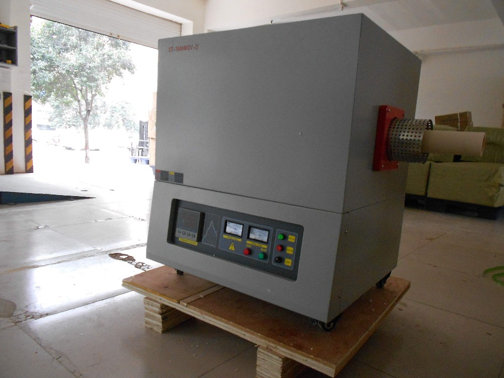 Gas SiC Electric Vacuum Glass Testing Tube Furnace up to 1400C