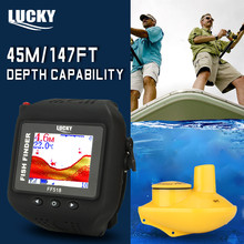Lucky portable wireless fishfinder FF518 transducer hot sale watch fish finder sonar for outdoor sport