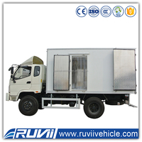 2 tons box cargo truck delivery cargo truck for sale
