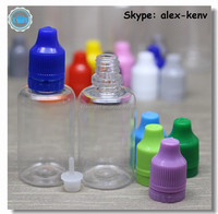 Free shipping 30ml PET e cigs dropper bottles e juice bottles with child and tamper ring cap