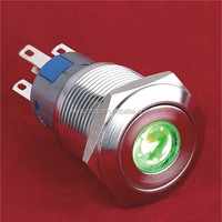 Switchtec CE/RoHS/P67 19mm Waterproof dot illuminated stainless steel pushbutton switch
