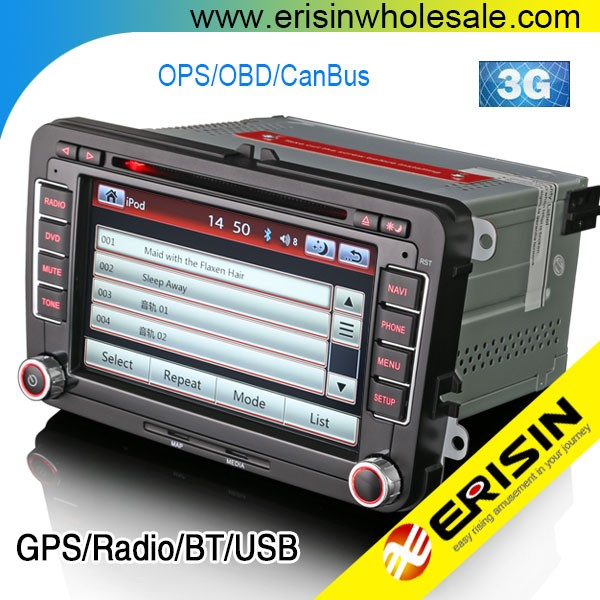 Erisin ES7900V Car Stereo DVD GPS Navigation System for Caddy 2003 Jetta